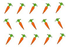 Carrots are a root vegetable royalty free illustration