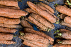 Carrots for sale in a market Stock Image