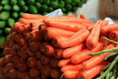Carrots on sale Stock Images