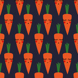 Carrots seamless pattern for kids holidays. Cute baby shower vector background. Royalty Free Stock Image