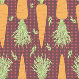 Carrots seamless pattern Royalty Free Stock Photography