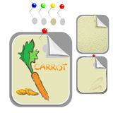 Carrots. set of stickers Royalty Free Stock Photo
