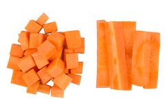 Carrots slice on white background Royalty Free Stock Photo