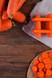 Carrots sliced and diced Stock Image