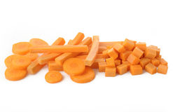 Carrots sliced Royalty Free Stock Photo