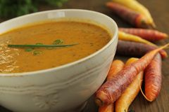 Carrots soup Stock Photo