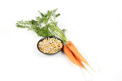 Carrots and Soup Pulses Royalty Free Stock Photos