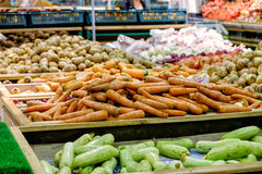 Carrots in supermarket Stock Image