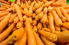 Carrots on the supermarket display Royalty Free Stock Image