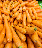 Carrots on the supermarket display Stock Photo