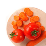 Carrots and tomato Stock Image