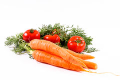 Carrots and tomato Stock Photo