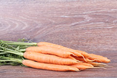 Carrots with tops Royalty Free Stock Photos