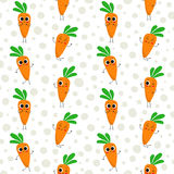 Carrots, vector seamless pattern Royalty Free Stock Image