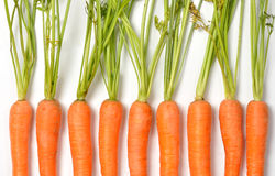 Carrots on White Stock Photos