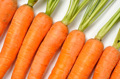 Carrots on White stock photography