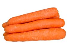 Carrots on a white Stock Image