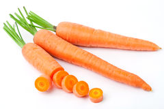 Carrots on a white background Royalty Free Stock Image