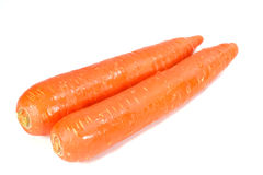 Carrots. On white background Stock Images