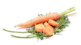 Carrots. On white background Royalty Free Stock Images