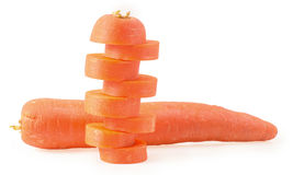 carrots  on white background Stock Photos