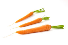 Carrots on white background Stock Images