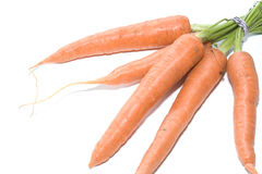 Carrots on White background 003. Produce sourced from farm Royalty Free Stock Images
