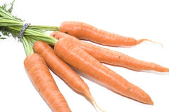 Carrots on White background 001. Produce sourced from farm Royalty Free Stock Photo
