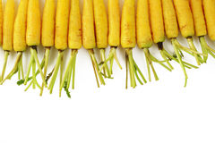 Carrots on white background. Raw carrots on white background Royalty Free Stock Image
