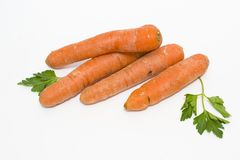 Carrots on a white background. Vegetables fresh orange. Vegetabl. Es in a group on a white background Royalty Free Stock Image