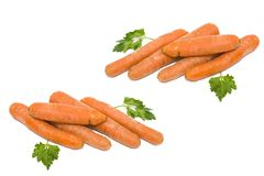 Carrots on a white background. Vegetables fresh orange. Vegetabl. Es in a group on a white background Stock Image