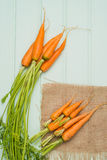 Carrots on a wooden table Stock Image
