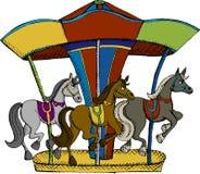Carrousel Stock Afbeelding