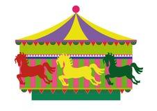Carrousel avec des chevaux Image stock