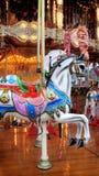 Carrousel bij de markt Stock Foto's
