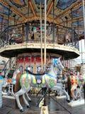 Carrousel bij de markt Paard stock foto's