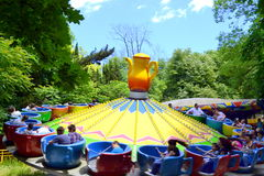 Carrousel bij funfair Royalty-vrije Stock Foto's