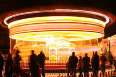 Carrousel bij nacht Royalty-vrije Stock Foto