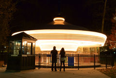 Carrousel bij nacht Stock Fotografie
