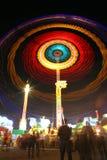 Carrousel bij nacht stock foto's