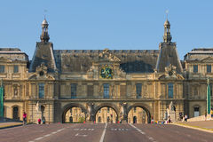 Carrousel bridge near the Louvre. Road over the Carrousel bridge near the Louvre Royalty Free Stock Photography
