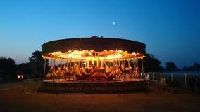 Carrousel in Cambridge bij dageraad Royalty-vrije Stock Fotografie