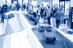 Carrousel de bagages à l'aéroport de Schiphol, Amsterdam, Pays-Bas Image stock