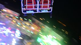 Carrousel in de lucht video stock video