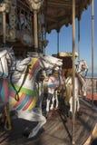 Carrousel de vintage à Barcelone Image libre de droits