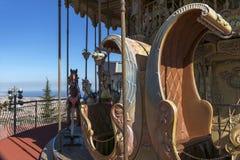 Carrousel de vintage à Barcelone Images libres de droits