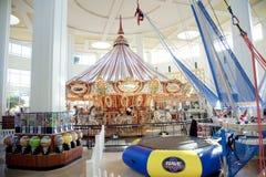 Carrousel in de Wolfchase-Wandelgalerij en Galleria, Memphis, Tennessee Stock Fotografie