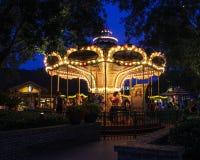 Carrousel in Disney Van de binnenstad Stock Afbeeldingen