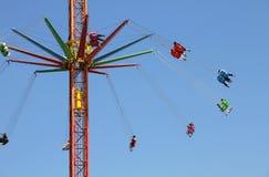 Carrousel in een pretpark Royalty-vrije Stock Afbeeldingen