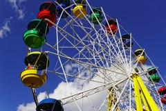 Carrousel in een Pretpark Stock Fotografie